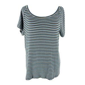 Madewell White Striped Canal Top Size XL